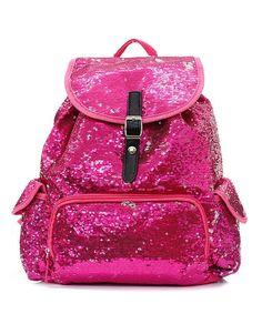 Cute Sequin Backpack Drawstring Knapsack Bookbag
