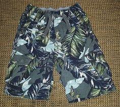 Baby Gap boys 3T Hawaiian print pull on cargo shorts