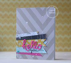 Paper Smooches~Hello dies by L. Bassen, via Flickr
