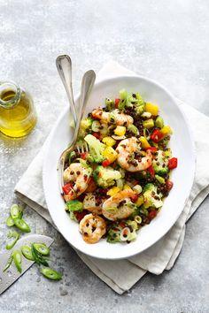 Brokkoli-Linsen-Salat mit Garnelen, Foto: © ZS Verlag/ Mathias Neubauer