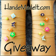 Jewelry #Giveaway! Enter to #win evil eye bracelets of choice from @handemadeit by 11:59pm EST on September 25, 2015.