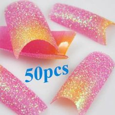 350BUY 50 PCS Nail Glitter Tips Hot Sale Purple Yellow Glitter Mix Style False French Acrylic Nail Art Tips by 350buy. $4.50. Purple & Yellow Glitter in color .. 100% Brand New and High Quality. Stunning False French Nail Art Tips. Suitable for professional salon use or home use. Used for decorations on the nails and design your own style and pattern. 10 different sizes approximately 5pcs for each size (size 1 ~ 10)