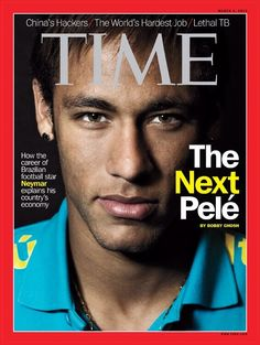 TIME: Neymar - The next Pele./ Neymar is the only Brazilian athlete to ever grace the cover of TIME magazine. Neymar Jr, Soccer Stars, Football Soccer, Football Players, Basketball, Time Magazine, Brazilian Soccer Players, Sports Magazine Covers, Marco Reus