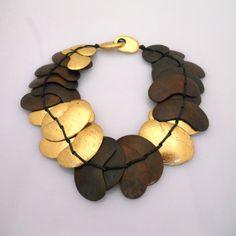 Vintage Wood Monies Necklace