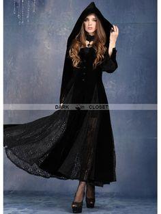 Dark in Love Black Long Sleeves Gothic Vampire Dress - DarkinCloset.com