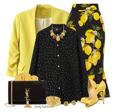 """""""Sunny Yellow"""" by honkytonkdancer ❤ liked on Polyvore featuring Dolce&Gabbana, Christian Louboutin, Gucci, Yves Saint Laurent, women's clothing, women, female, woman, misses and juniors"""