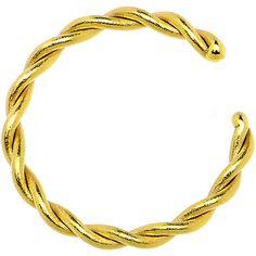 "16 Gauge 5/16"" Gold IP Annealed Steel Seamless Braided Circular Ring"