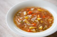 Vegetable Soup with Sweet Basil Recipe | SimplyRecipes.com