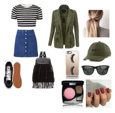 """""""Untitled #57"""" by keeshkiki on Polyvore featuring Witchery, Topshop, LE3NO, Vans, Glamorous, NIKE, Casetify, Ray-Ban and Chanel"""