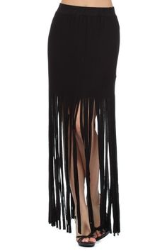 fringe skirt. Almost modest enough length...