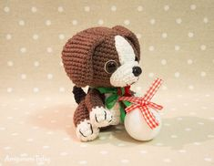 Free Beagle puppy crochet pattern by Amigurumi Today