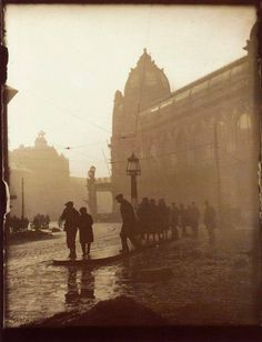 """"""" Josef Sudek (1896 – 1976) Morning in Na poříčí Street, 1919 """""""