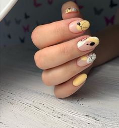 Chic Nails, Classy Nails, Stylish Nails, Trendy Nails, Swag Nails, Grunge Nails, Pastel Nails, Yellow Nails, Colorful Nails