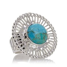 """Jay King Kingman Turquoise """"Pinwheel"""" Ring"""