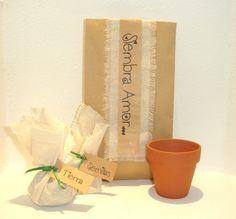 Kit de Siembra, con semillas, tierra y maceta de terracota.