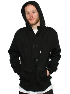 "Men's ""Pea Coat"" by DETER (Black) #inkedshop #peacoat #black #menswear #jacket #coat"