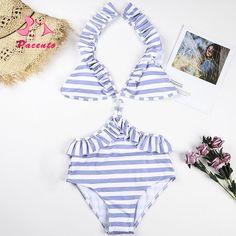 8b32b05bb1c5e 2018 Sexy High Waist Bikini Women Swimwear Push Up Swimsuit Bathing Suit  Bikinis Set Summer Beach Wear Female