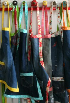 How to make an apron out of a pair of Levis