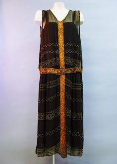 Perles robe de GARÇONNE des années 1920 du par IncogneetoVintage