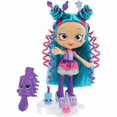 "Shopkins Shoppies Polli Polish Doll - Blue - Moose Toys - Toys""R""Us Toys R Us, All Toys, Shoppies Dolls, Shopkins And Shoppies, Shopkins Season 7, Moose Toys, Vip Card, Doll Stands, Lol Dolls"