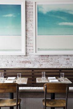 The Fat Radish Kitchen Diaries (La Buena Vida - Nicole Franzen) Retail Interior, Cafe Interior, Interior Design, Cafe Restaurant, Restaurant Design, Restaurant Interiors, New York, Booth Seating, Cafe Shop