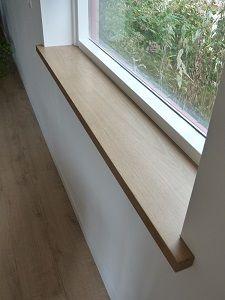 Rustiek eiken vensterbank bewerkt met loogbeits van for Steigerhout vensterbank