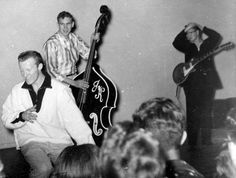 The Teen Kings and Roy Orbison playing at a youth centre in McCamey Dec. 1957 (Roy on the right)
