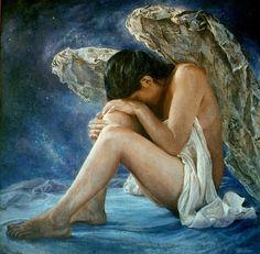 Remy Daza Rojas - Angel Nocturno (Bolivian Figurative painter)