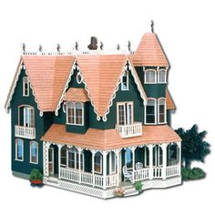 The Garfield: Front View. I always wanted to build, decorate and furnish a doll house. Wouldn't this one be amazing!