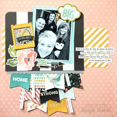 Dreaming Big - Scrapbook.com - Made with the Simple Stories I Am collection