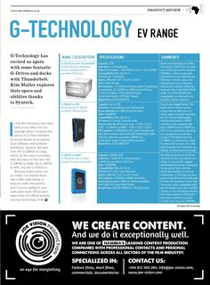 The Callsheet Issue 10 G Tech, G Drive, Product Review, Whats New, Technology, Tech, Tecnologia
