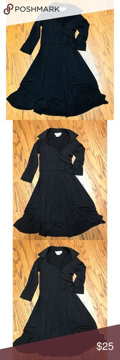 LBD Maggy London Perfect staple for you to have in your closet . This little black dress is all you need to get you through any occasion ! Dressed up with heels or dressed down with flats . Maggy London Size 4 Maggy London Dresses Midi