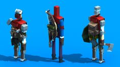 Random Low-Poly Characters on Behance