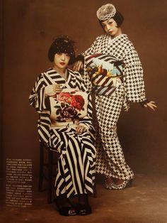 retro modern kimono