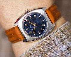 Modern men's wrist watch Rocket navy face gent's by SovietEra