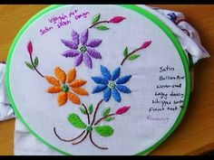 hand embroidery designs. hand embroidery tutorial - Cut work , satin stitch. - YouTube