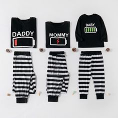 Energetic Baby Striped Christmas Family Matching Pajamas Set at PatPat.com