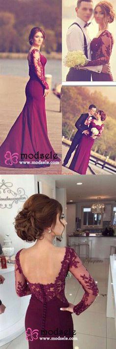 2016 prom dresses, mermaid prom dresses, long prom dresses, burgundy prom dresses, maroon prom dresses