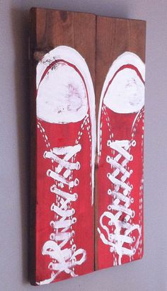 One step at a time.. hand painted on reclaimed by emc2squared