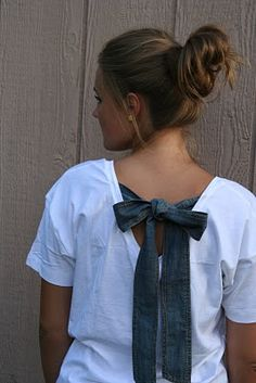 diy bow back shirt