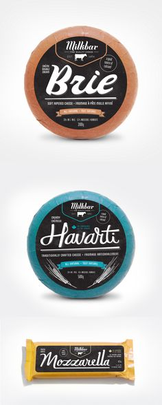 Great package design! Milkbar Cheese by Megan Lewis.