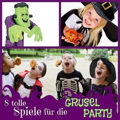 8 scary games for the Halloween party with kids Halloween Party Kinder, Halloween Buffet, Halloween Games, Halloween Projects, Halloween 2017, Halloween Party Decor, Halloween Kids, Halloween Treats, Happy Halloween