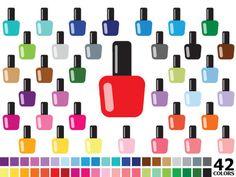 ITEM: Rainbow Nail Polish Clipart - Digital Vector Colorful Nail Polish, Fashion, Make Up, Spa, Beauty, Cosmetics, Nail Polish Clip Art for Personal and Commercial Use  WHA... #thecreativemill