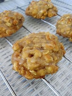 peanut butter, banana, honey cookies