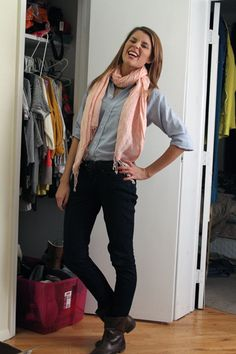 Grace Helbig  I love Grace! And her entire outfit, especially her scarf!
