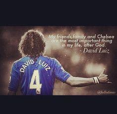 David Luiz quote :') David Luiz Chelsea, Chelsea Fc, Chelsea Memes, Football Is Life, Chelsea Football, Love Affair, Faith In God, Soccer Players, Inspire Me