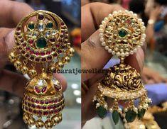 Kundan Nakshi Chandbalis with Drops Jewelry Design Earrings, Gold Earrings Designs, Rajputi Jewellery, Gold Bangles Design, Indian Jewellery Design, India Jewelry, Wedding Jewelry, Fashion Jewelry, Kfc