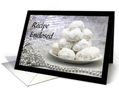 Snowball Cookie Recipe Christmas Baking card
