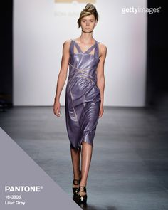 Lilac Gray on the Son Jung Wan runway. Fashion by @gettyimages - #Pantone #FashionColorReport #SS16 #NYFW