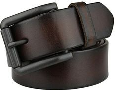 5cf0e17ad Bullko 7059 Men's Retro Pin Buckle Leather Belt Best Leather Belt, Brown Leather  Belt,
